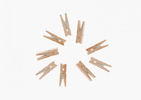 pinzas de madera